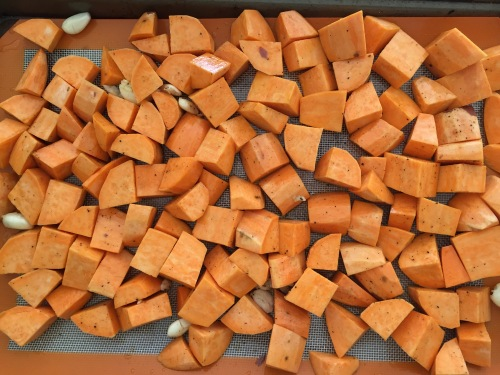 Roasted Sweet Potatoes and Garlic