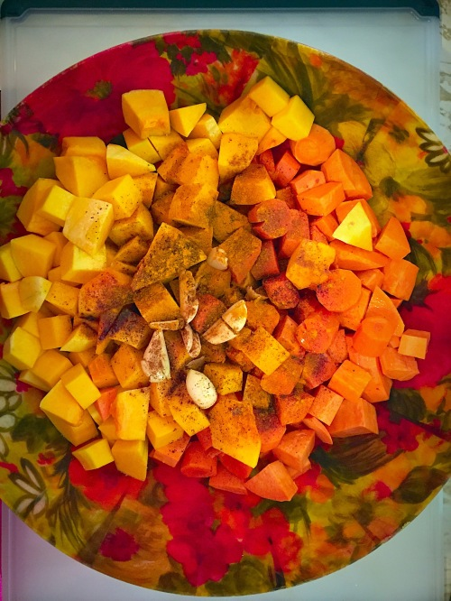 Butternut Squash, Sweet Potato, Carrots, Garlic and Spices