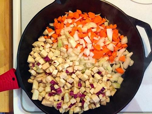 Eggplant, Onion, Carrots