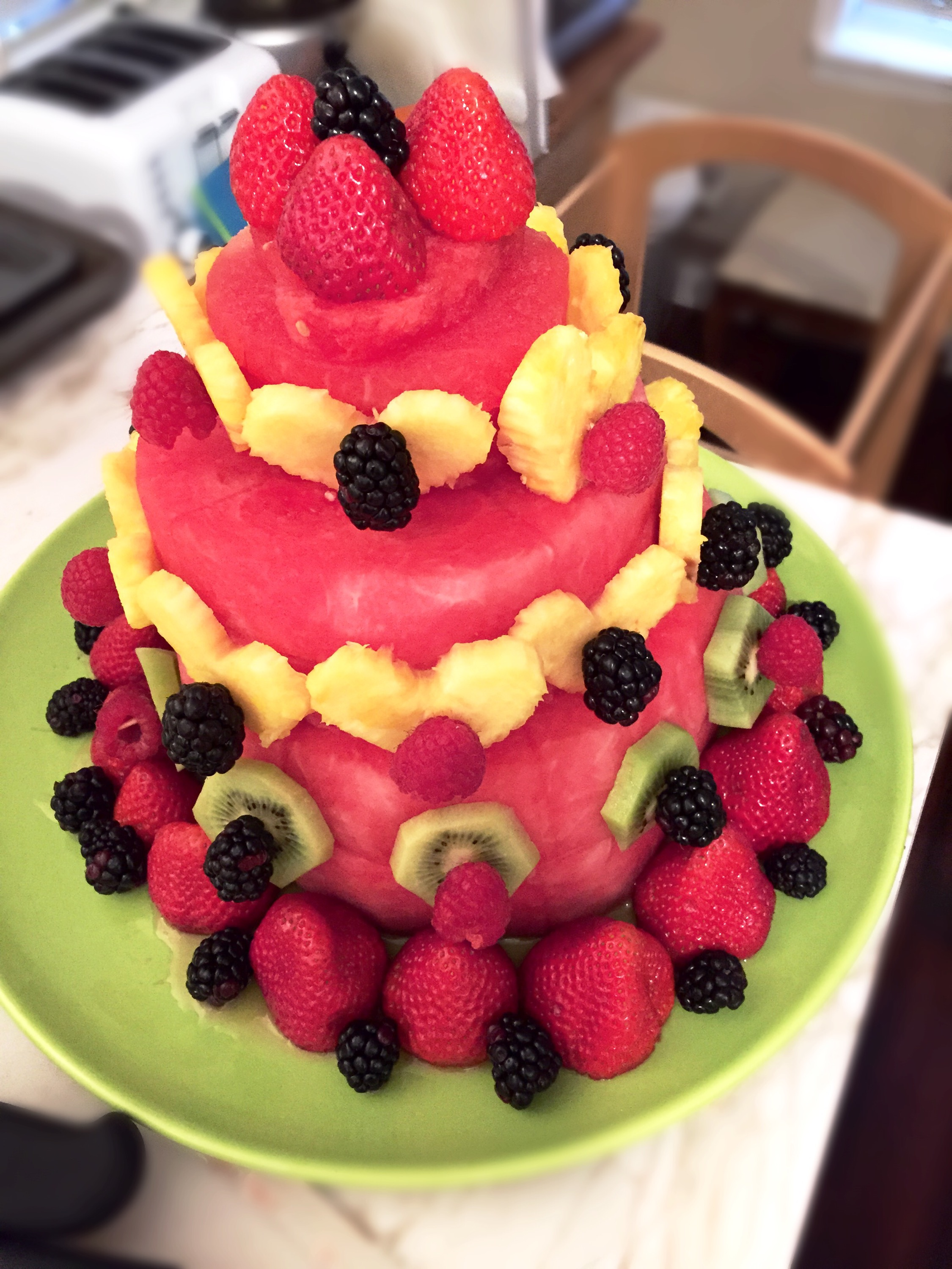 A Sweet Surprise: Watermelon Fruit Cake – Loved and Nourished