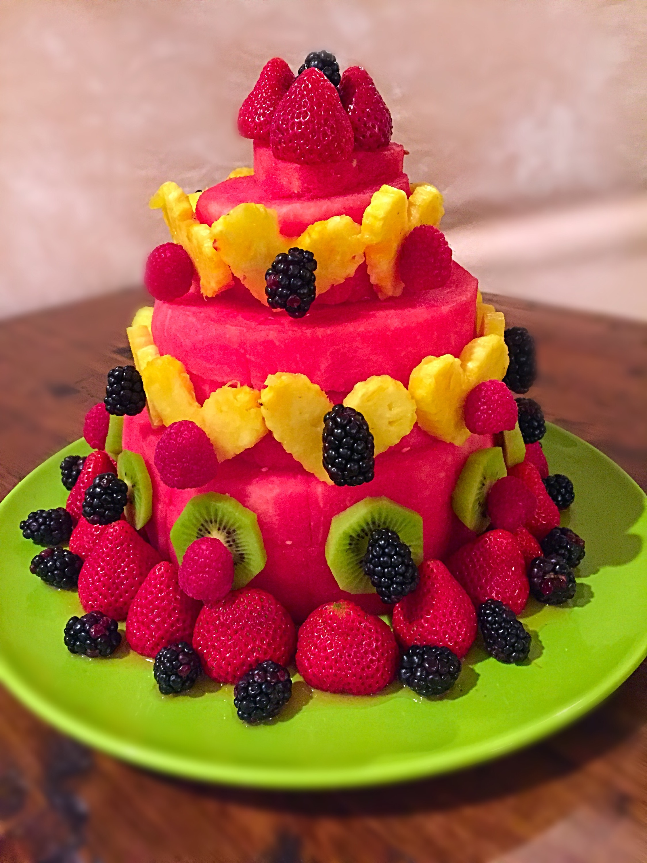 how to make watermelon fruit cake