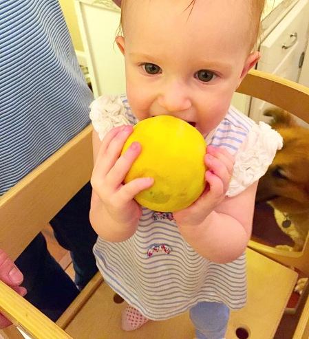 Maddie tyring a lemon