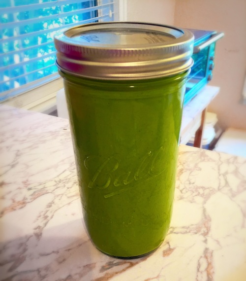 Store in a mason jar to use throughout the week.