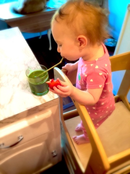 Enjoying a Green Smoothie 13 Months