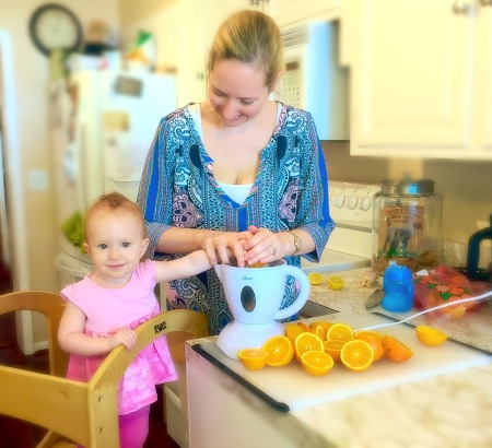 Juicing with Maddie - 13 Months